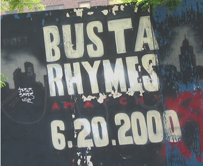 Busta Rhymes on 110th street Duke Ellington Blvd