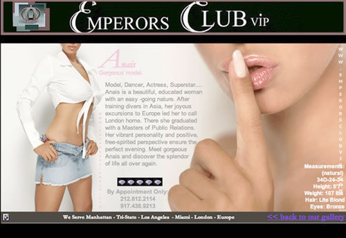 Governor Eliot Spitzer, New York, and the Emperors Club VIP