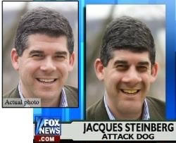 Jacques Steinberg, vilified by Fox News PR, photo altered