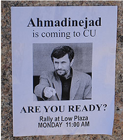 Ahmadinejad, President of Iran, at Columbia