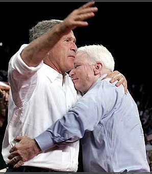 John McCain and George Bush - everlasting love