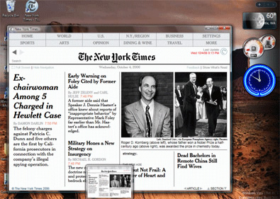 The New York Times reader developed with Microsoft