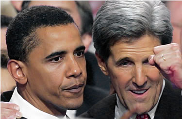 John Kerry and Barack Obama