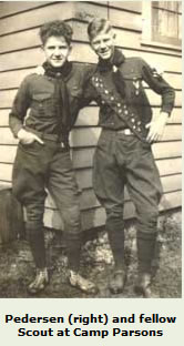 John Pedersen, as a Boy Scout, Camp Parsons, near Brinnon, Olympic Peninsula, Washington State