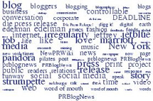 wordclouf prblognews blogs public relations PR jobs
